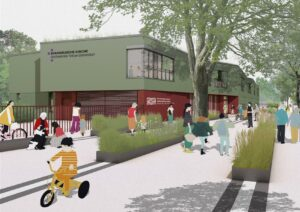 Baubeginn: Ev. Schule Zehlendorf